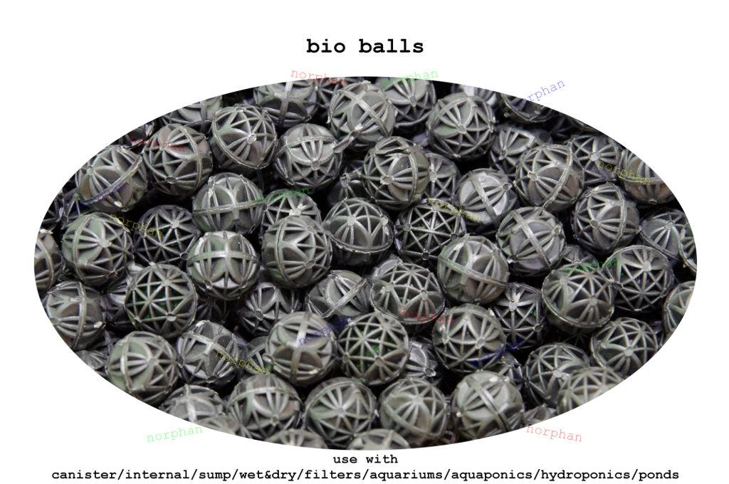 Bio balls 50x 16mm filter media canister aquarium fish for Pond bio balls cleaning