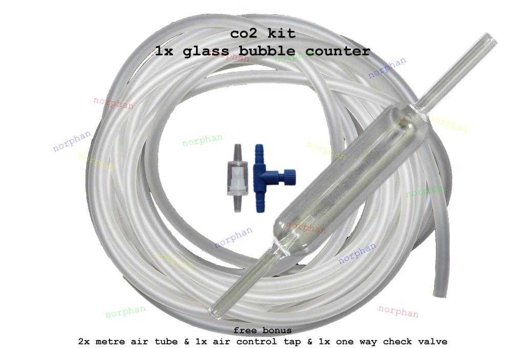Glass co2 bubble counter diffuser aquarium fish frog koi for Koi pond bubble