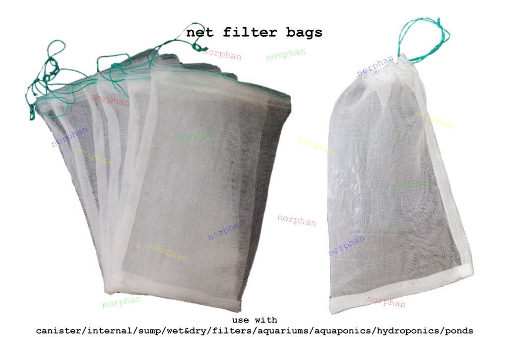 Net filter media bags canister activated carbon bio balls for Charcoal fish tank filter
